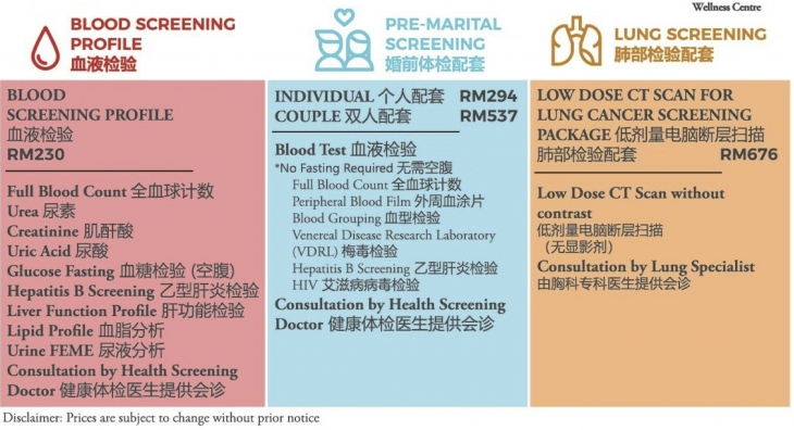 Sunway Medical Centre 20 Off Health Screening Packages British Malaysian Chamber Of Commerce Bmcc