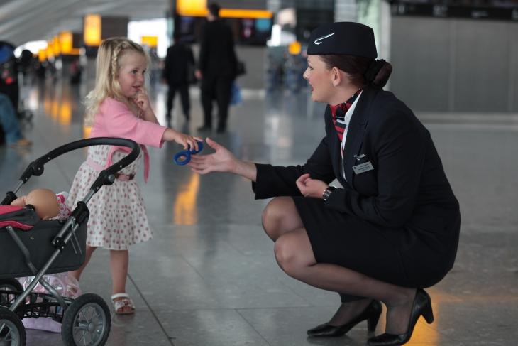 British airways stewardess shows her undies - 1 9