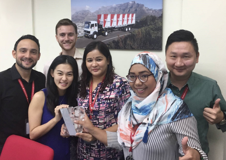 The sales team of AGS Malaysia 