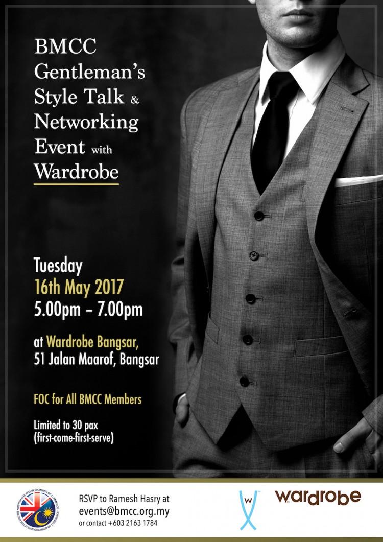 BMCC Gentleman's Style Talk & Networking Event with Wardrobe