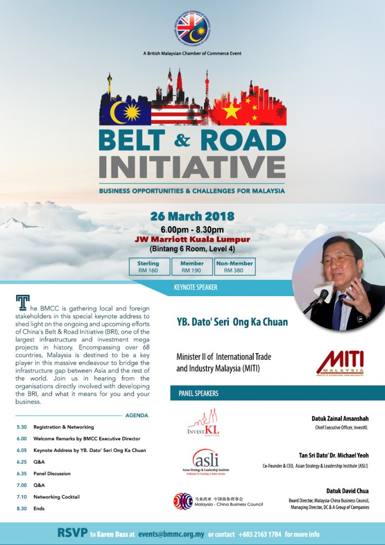 Belt & Road Initiative: Business Opportunities and Challenges for Malaysia