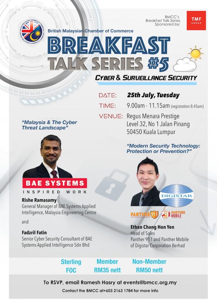 Breakfast Talk Series #5 - Cyber & Surveillance Security