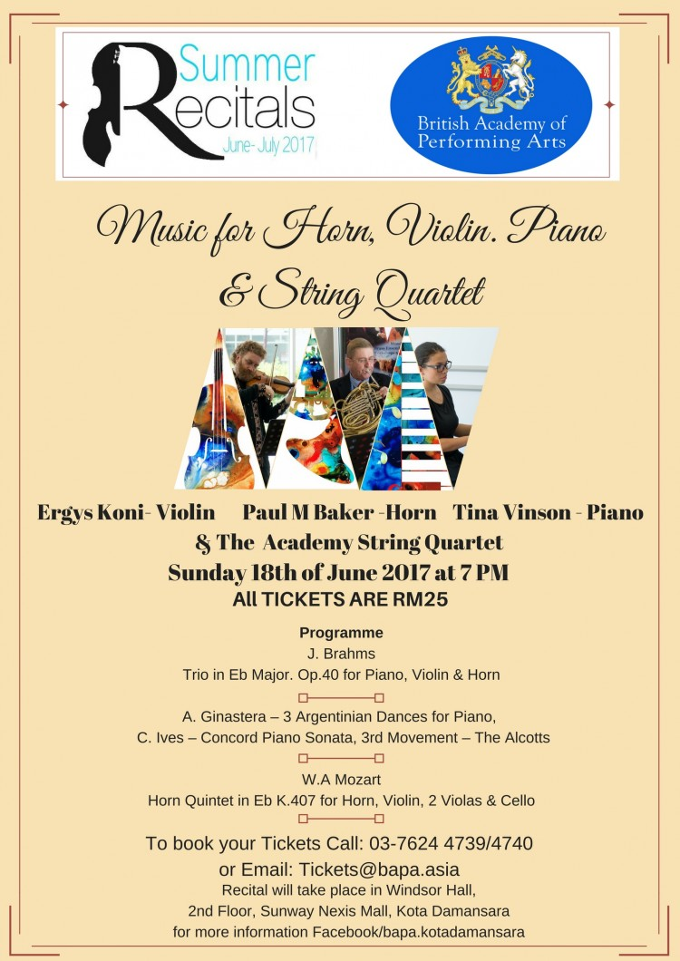 Summer Recitals June - July 2017