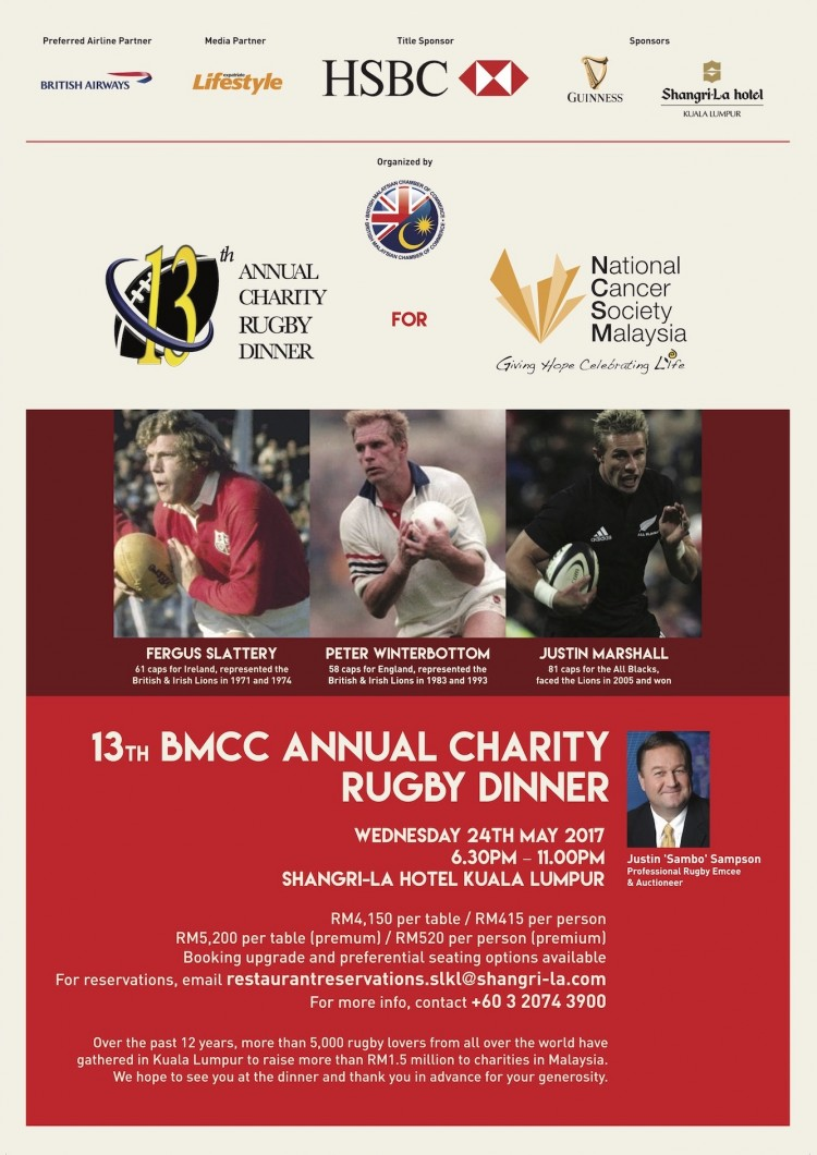 13th Annual Charity Rugby Dinner 2017