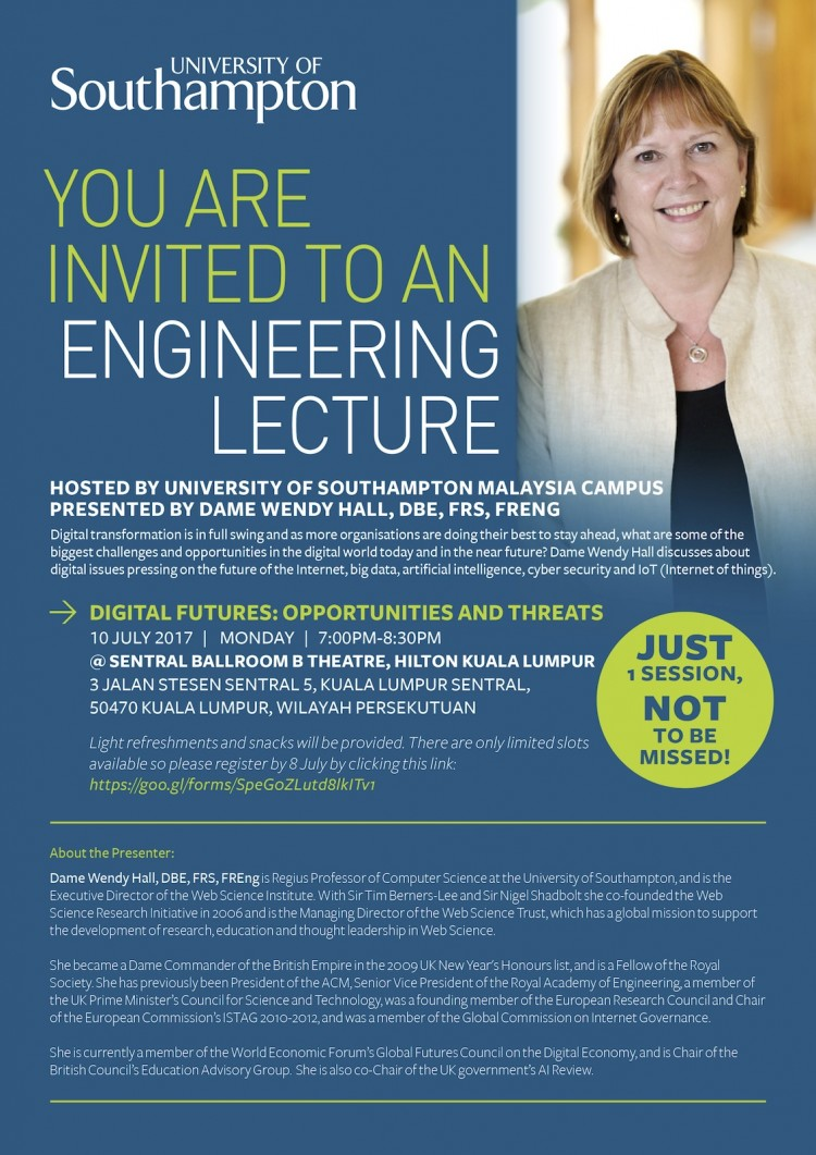 Digital Futures: Opportunities & Threats - A University of Southampton Lecture