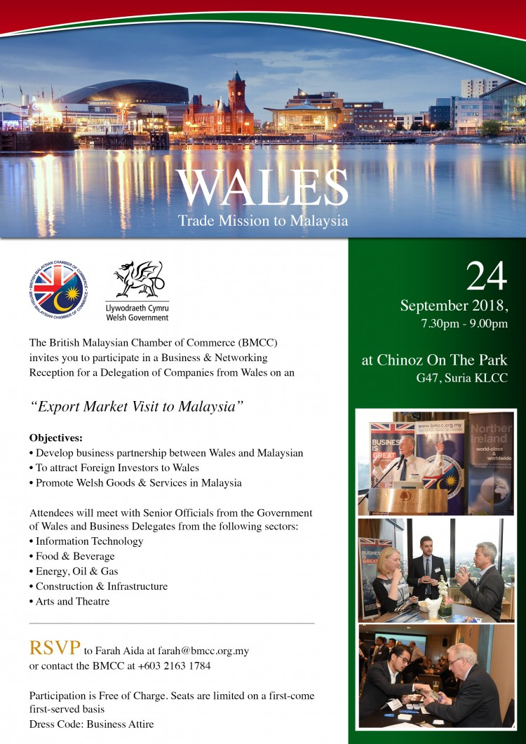 Wales Trade Mission to Malaysia | British Malaysian Chamber
