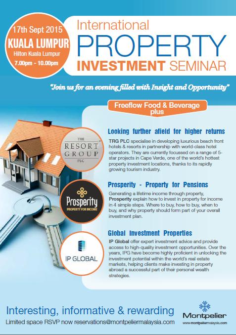 investment seminars International Property Investment Seminar | British Malaysian ...