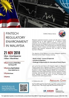 BMCC Webinar: Fintech Regulatory Environment In Malaysia