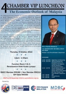 4-Chamber VIP Luncheon: The Economic Outlook of Malaysia
