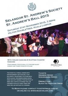 Selangor St. Andrew's Society St. Andrew's Ball 2015