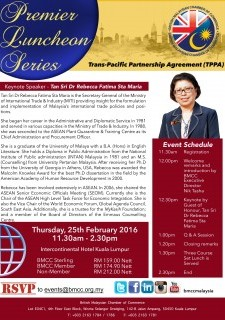 BMCC Premier Luncheon: Trans-Pacific Pacific Agreement (TPPA)