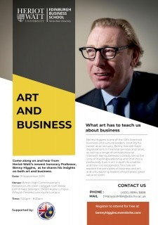 Heriot-Watt University: Art and Business with Benny Higgins