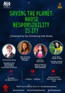 Chevening Talk Series - Saving the Planet: Whose Responsibility is it?