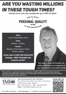 Seminar: How To Create A Personal Quality Culture In Your Organization.