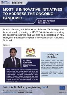 EUMCCI BizTalks: MOSTI's Innovative Initiatives to Address the Ongoing Pandemic