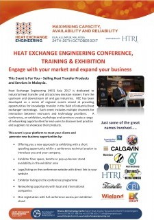 HEAT EXCHANGE ENGINEERING CONFERENCE, TRAINING & EXHIBITION