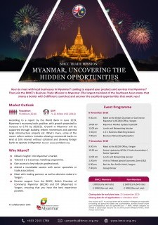 BMCC Trade Mission: Myanmar, Uncovering The Hidden Opportunities