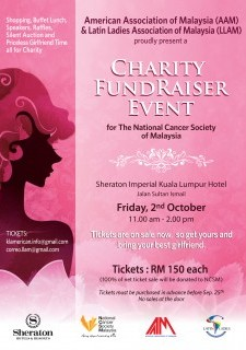 AAM & LLAM Charity Fundraiser Event for The National Cancer Society of Malaysia