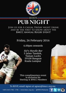 BMCC Rugby Pub Night