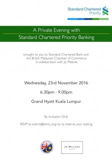 A Private Evening with Standard Charterd Priority Banking