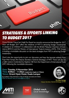 Strategies & Efforts Linking to Budget 2017 by BMCC and TMF