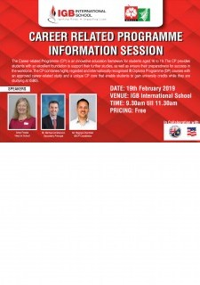 Career Related Programme Information Session