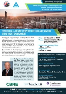 "BMCC & Amcorp - ""Commercial & Private Property Outlook and Taxation in the Brexit Environment"""