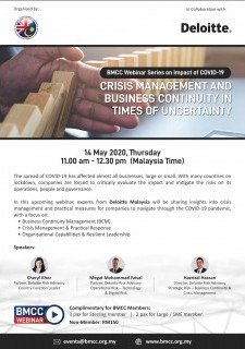 [WEBINAR] BMCC - Deloitte: Crisis Management and Business Continuity in Times of Uncertainty