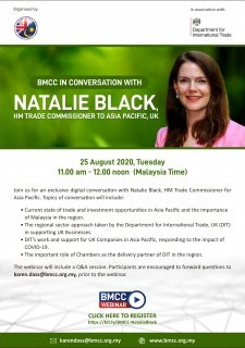 BMCC in Conversation with Natalie Black, HM Trade Commissioner to Asia Pacific, UK