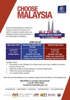 """Choose Malaysia"" Events at London UK"