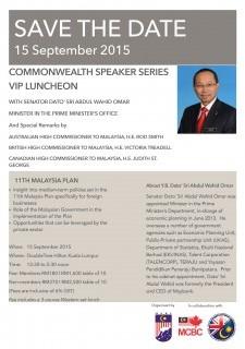 Commonwealth Speaker Series VIP Luncheon