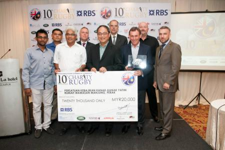 BMCC Charity Rugby Cheque Presentation Ceremony