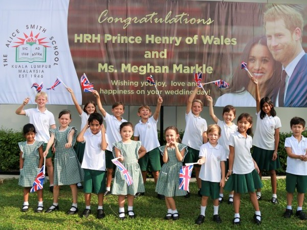 Royal Wedding Celebrated in Style at the Alice Smith School