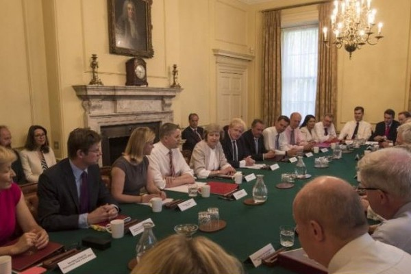 Inside Prime Minister Theresa May's first Cabinet meeting