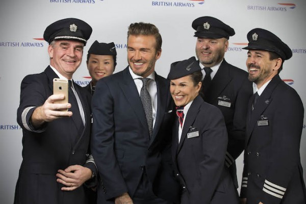 David Beckham talks his unforgettable travels to British Airways