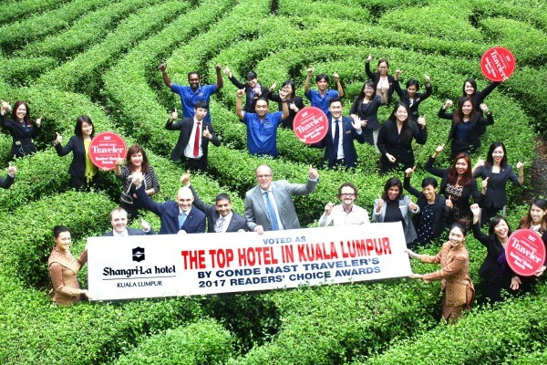 Shangri-La Hotel, Kuala Lumpur Voted Top Hotel in Kuala Lumpur by Condé Nast Traveler