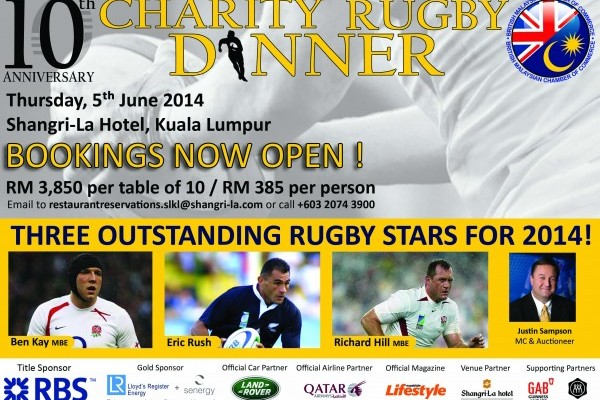 BMCC 10th Anniversary Charity Rugby Dinner