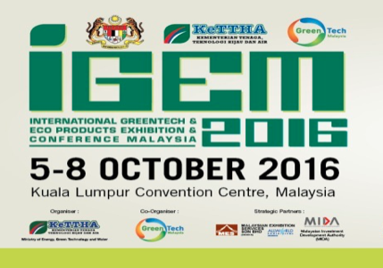 International Greentech & Eco Products Exhibition & Conference Malaysia (IGEM 2016)