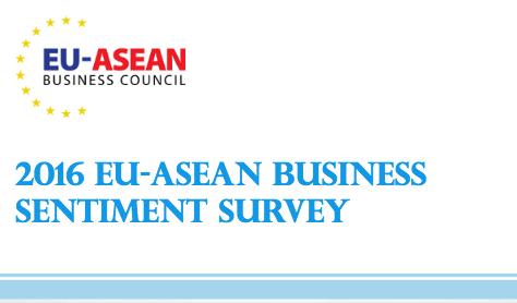 Launch of the 2016 EU-ASEAN Business Sentiment Survey