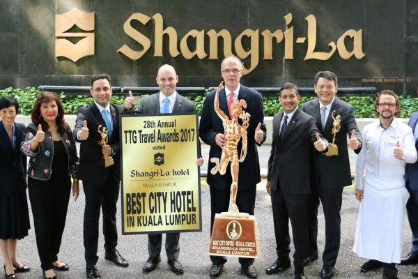 SHANGRI-LA HOTEL, KUALA LUMPUR NAMED BEST CITY HOTEL FOR THIRD CONSECUTIVE YEAR  AT TTG TRAVEL AWARD