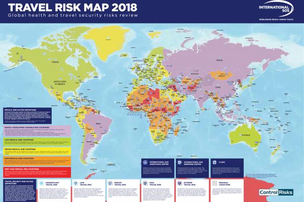 International SOS - Travel Risk Map 2018