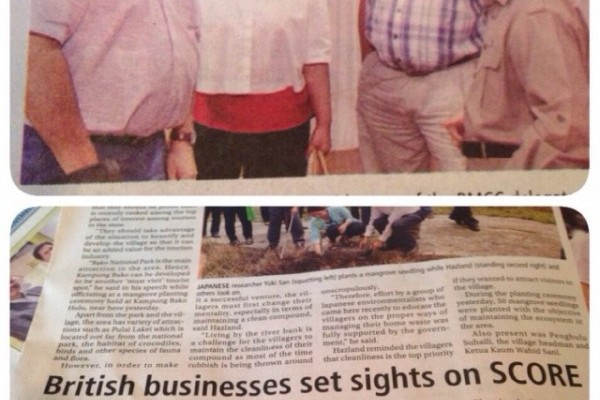 British businesses set sights on SCORE - New Sarawak Tribune November 7, 2014