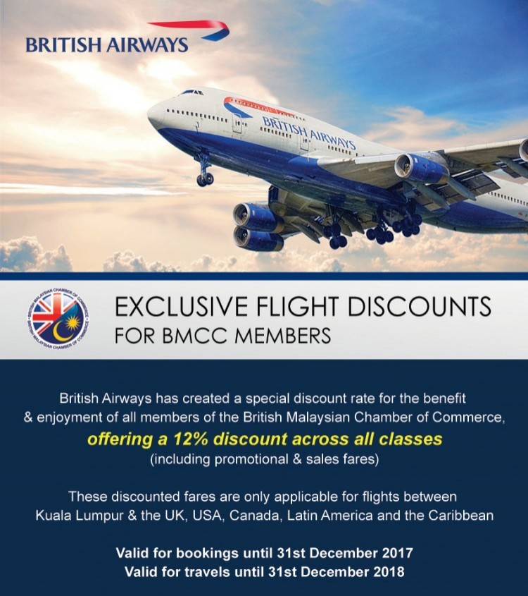Exclusive British Airways Flight Discounts for BMCC Members
