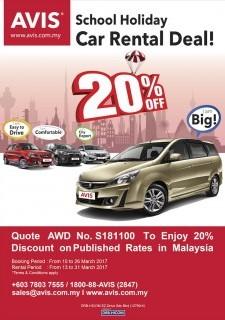 AVIS School Holiday Car Rental Deal