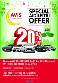AVIS Special Aidilfitri Promo 2017