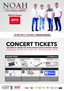NOAH Live in Kuala Lumpur Contest