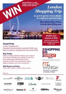 Shopping is GREAT! Win a trip for 2 to London!