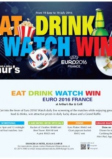 Eat Drink Watch Win Euro 2016 at Arthur's Bar & Grill