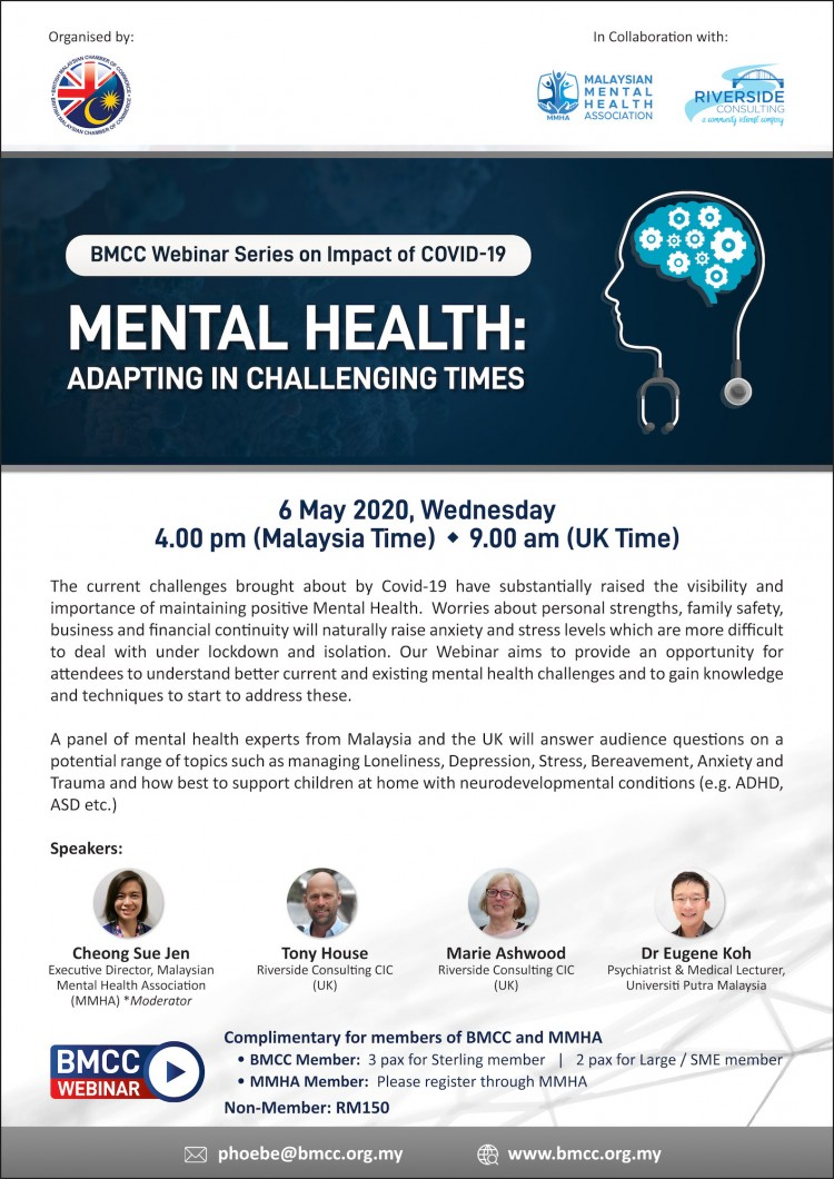 Webinar Mental Health Adapting In Challenging Times British Malaysian Chamber Of Commerce Bmcc