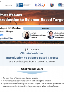 Climate Webinar: Introduction to Science-Based Targets